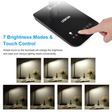 9W Rotatable Touch Control Black LED Table Lamps