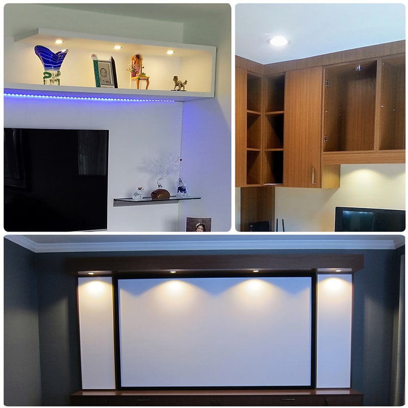 3W LED Non-dimmable Warm White Under Cabinet Lights