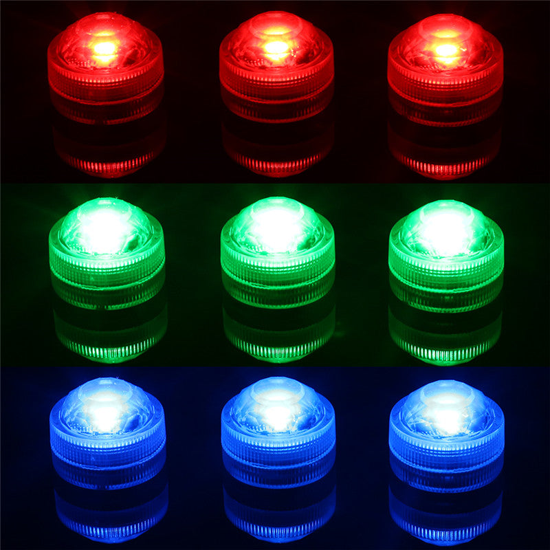 10 Pack Wireless Waterproof Submersible Light