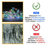 6W USB Colorful Lights Window Curtain String Lights