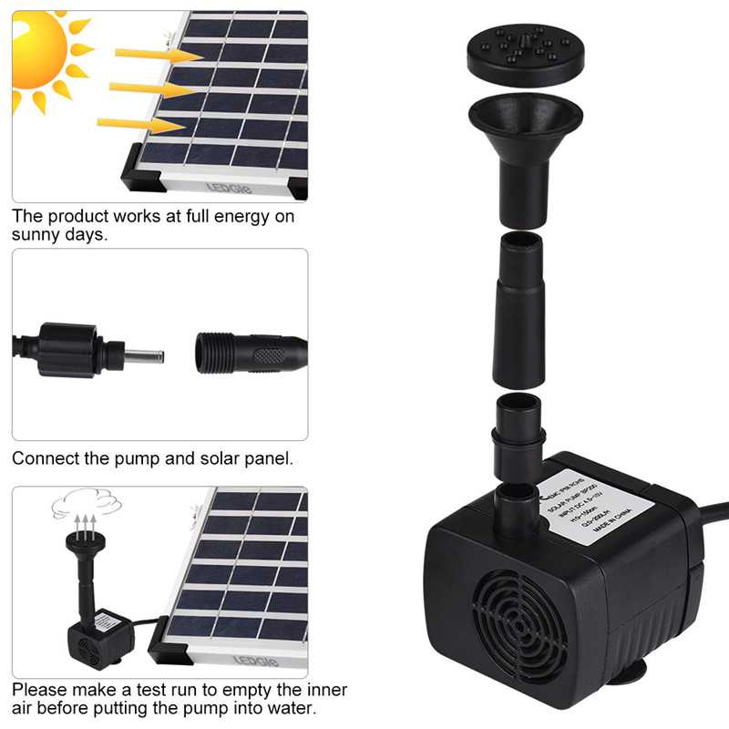 Solar Garden Water Pump Kits with 2 Pumps