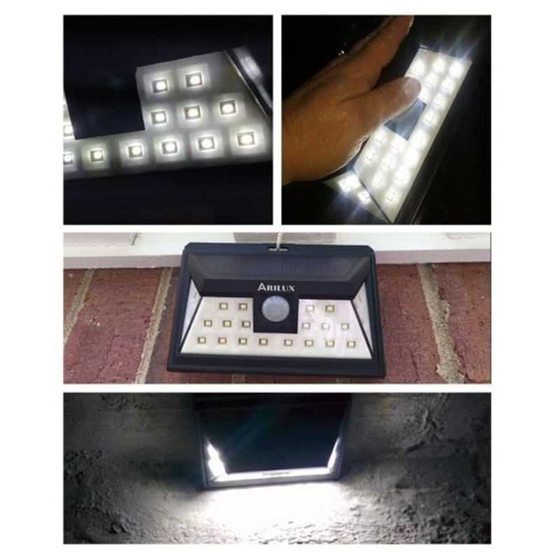 3W Motion Sensor Security Solar Wall Lights