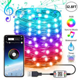 Smart WiFi RGB Fairy String Light APP Sync Bluetooth Music for Bedroom Patio