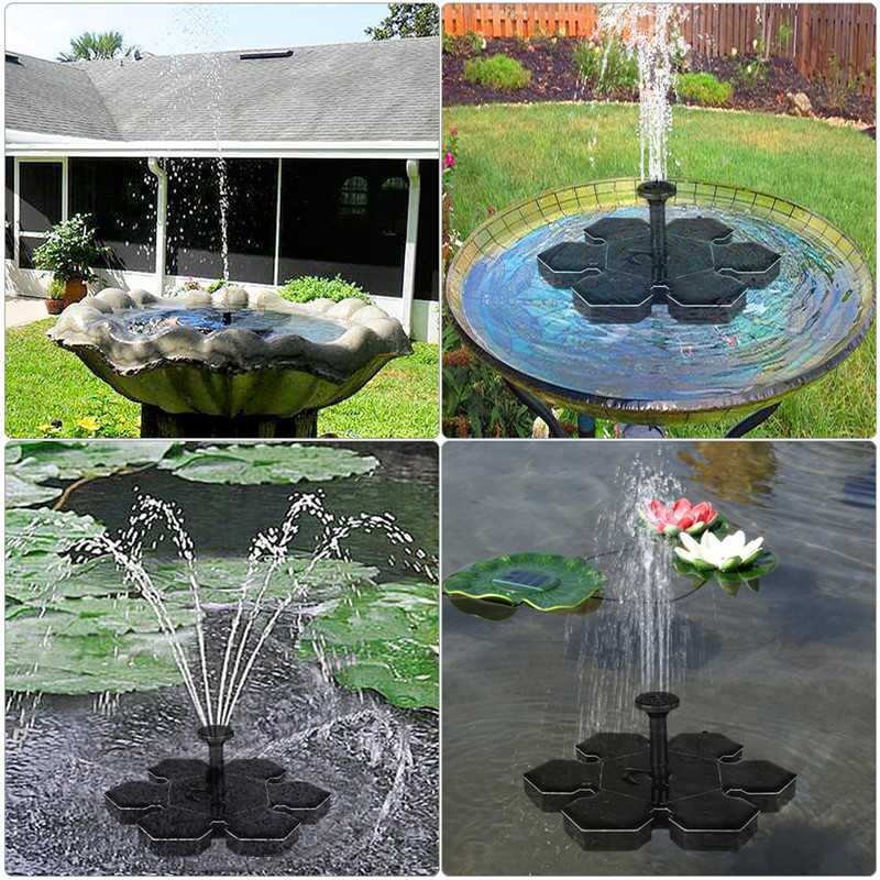 Ice Flowers Solar Floating Fountain Water Pumps