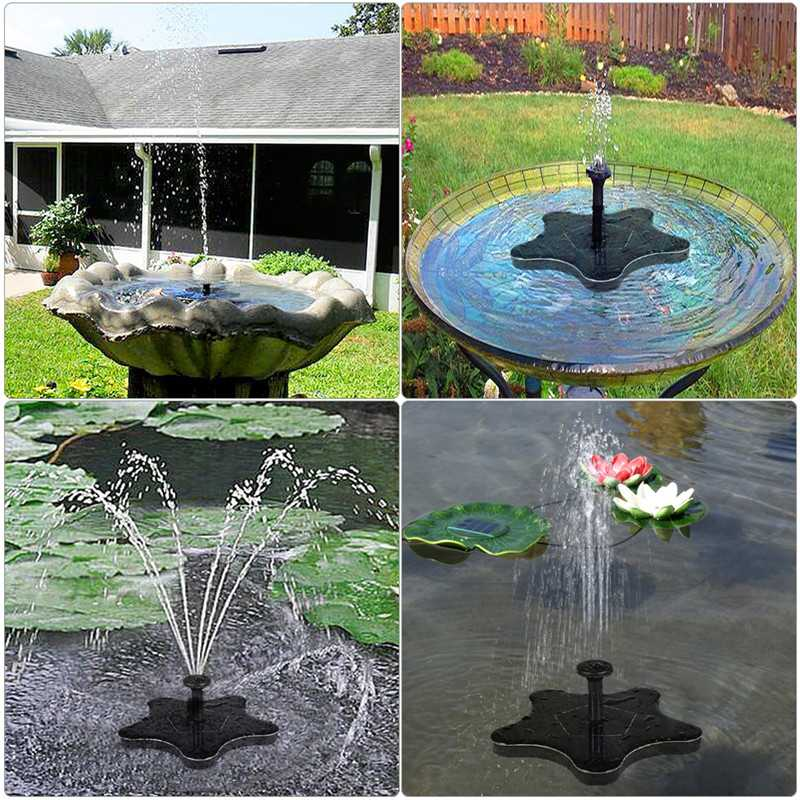 1.4W 7 Nozzles Solar Fountain Water Pumps