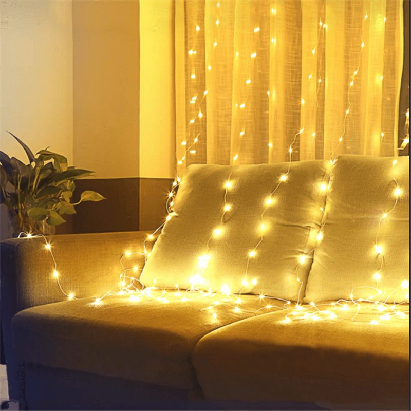 6W Dimmable Waterproof Window Curtain String Lights
