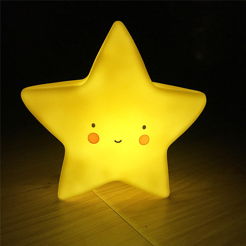 Battery Powered Cute Yellow Bedside Night Lights