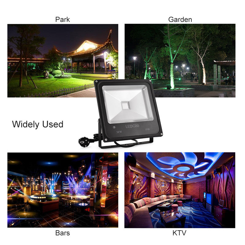 30W 4 Modes Waterproof Outdoor LED Flood Lights