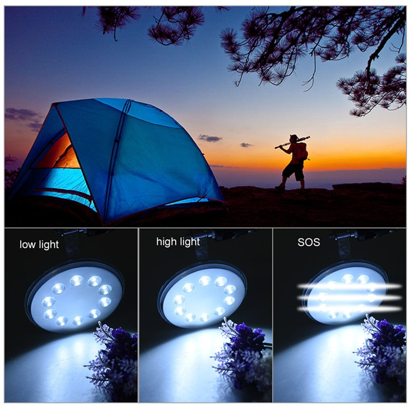 Waterproof Outdoor Solar Camping Lantern Lights