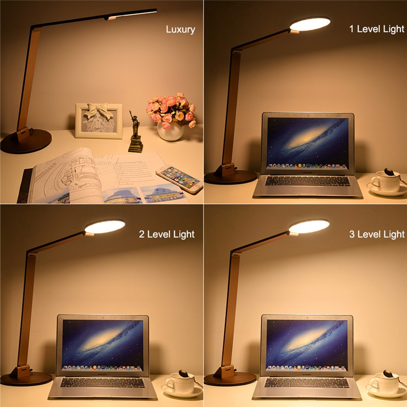 10W Touch Control 3-Level Dimmable LED Desk Lamps