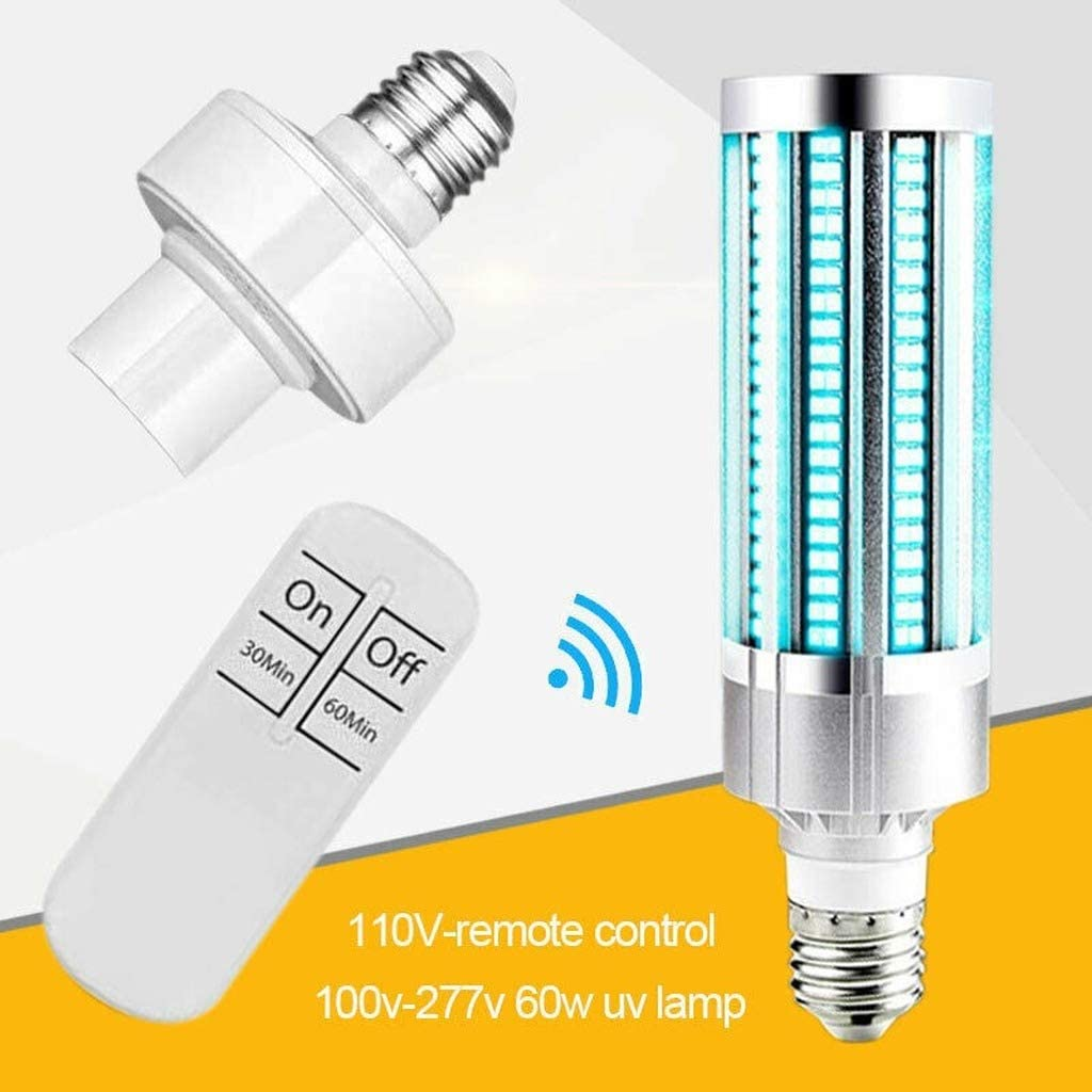 60W E26/E27 UV UVC Ozone Sterilizer Corn Light Bulb