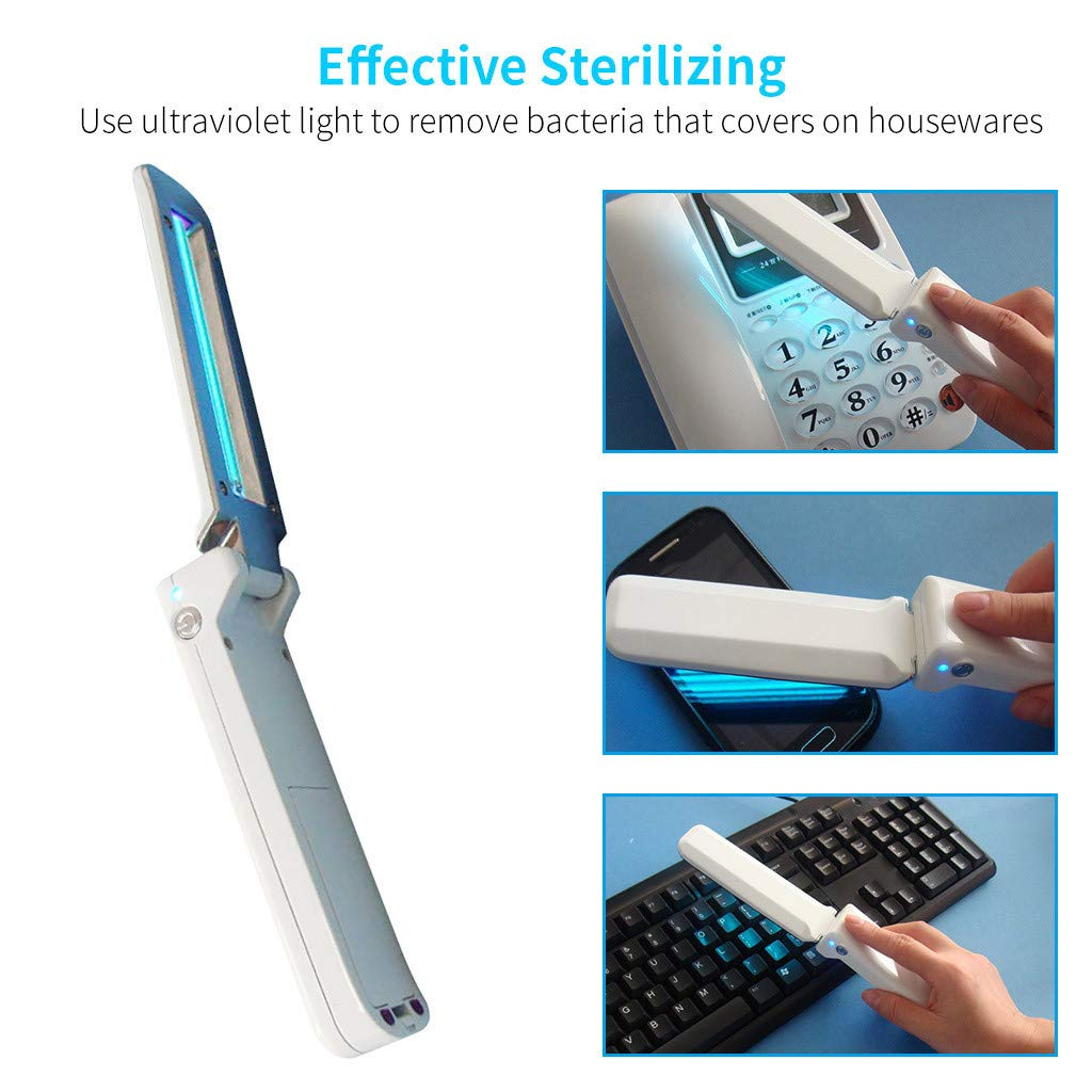 UVC Disinfection Lamp Handheld Mini UV Sterilization Light