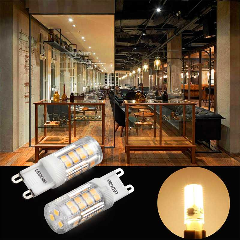 6 Pack 5W G9 Warm White 51-LED Lights Bulbs