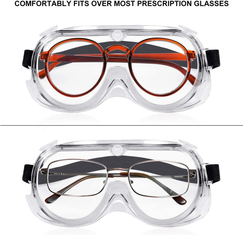 Safety Transparent Full Vision Eye Protection Goggles