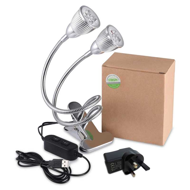 2 Heads Dimmable Indoor Plant Grow Lights