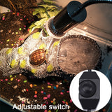 VA UVB Aquarium Heating Light  Pet Heating Bulb for Turtle(US Standard Plug)