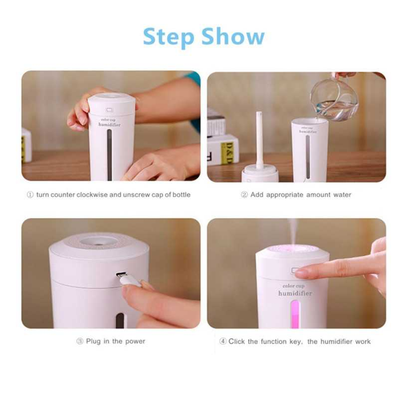 230ml Portable Cool Mist Car Humidifiers