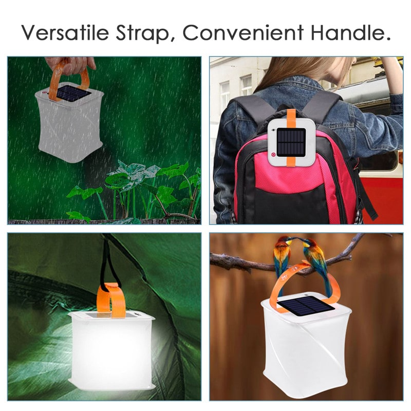 Inflatable Rechargeable Solar Camping Lantern Lights