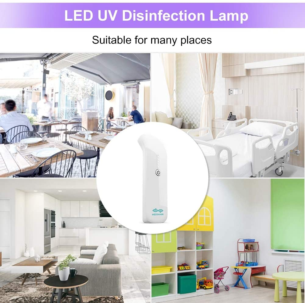 Portable LED Ultraviolet UVC Lamps Virus Removal Light