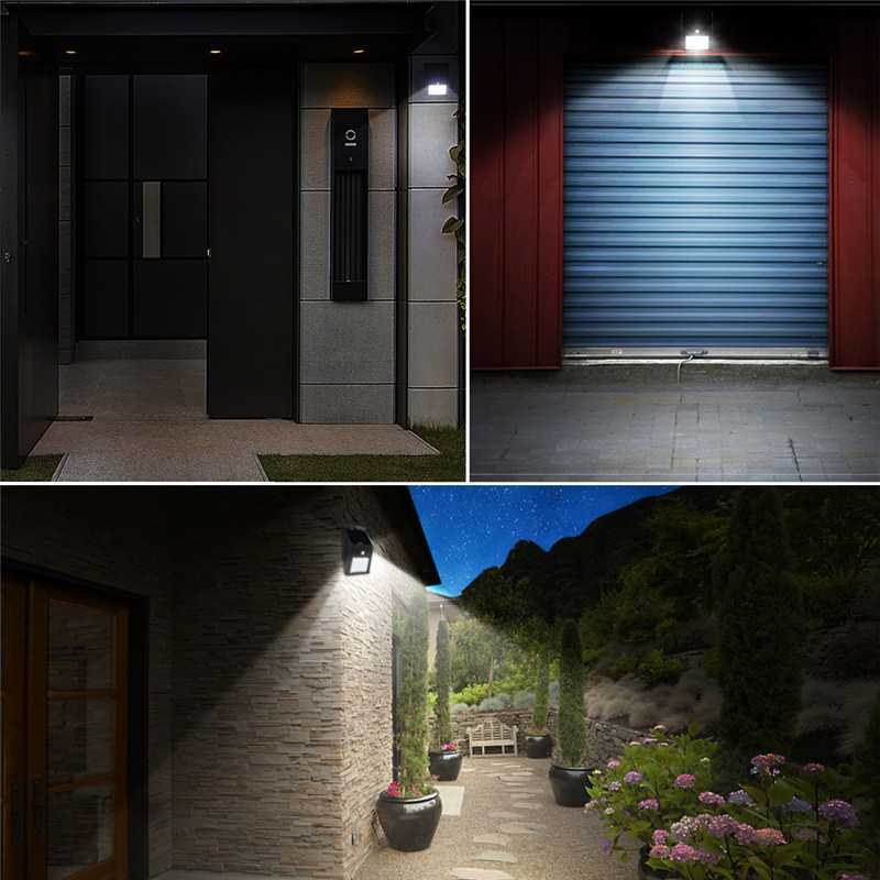 Sensor Waterproof Outdoor Solar Wall Lamps Ledgle