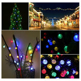 20ft Waterproof Globe Solar Crystal Ball String Lights