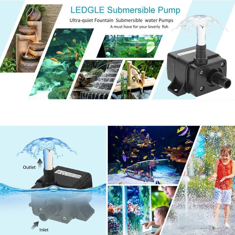 3.6W Mini Ultra-quiet Brushless Aquarium Water Pumps