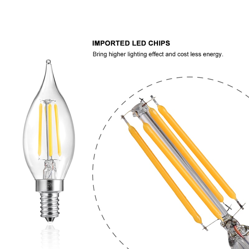 4W Dimmable Warm White E12 LED Bulbs