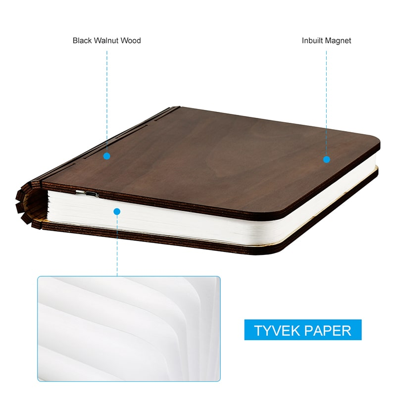 4 Color Modes Rechargeable Foldable Book Lights