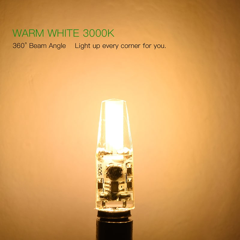 6 Pack 2.2W Warm White G4 LED Bulbs