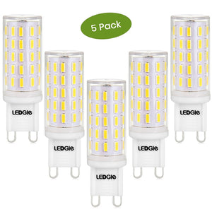 5 Pack 6W Daylight White G9 LED Light Bulbs