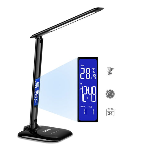 LEDGLE USB Charging Dimmable 8W LCD Screen LED Desk Lamp