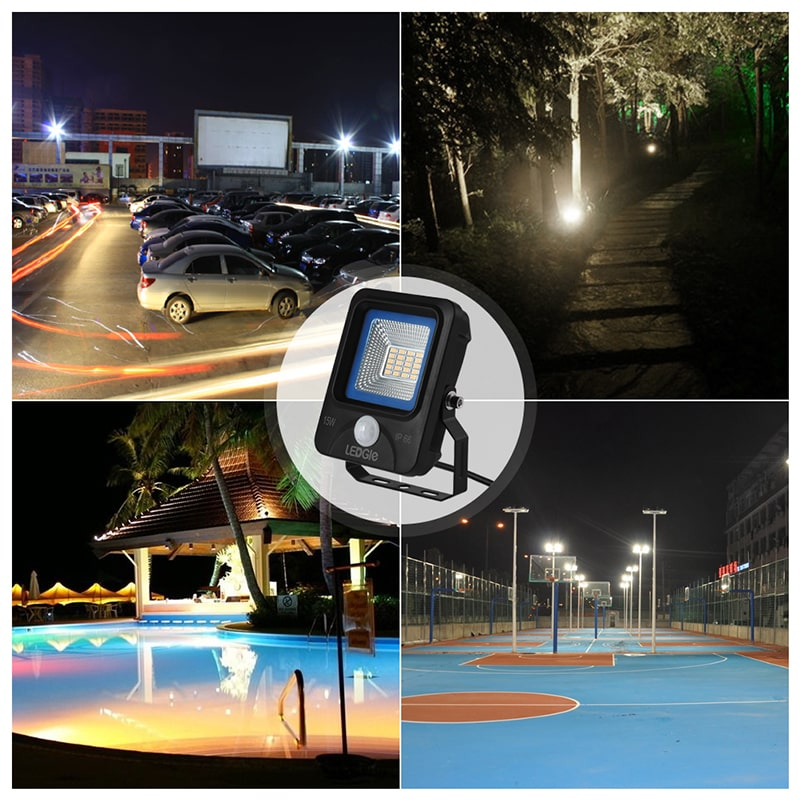 15W Waterproof Motion Sensor LED Flood Lights