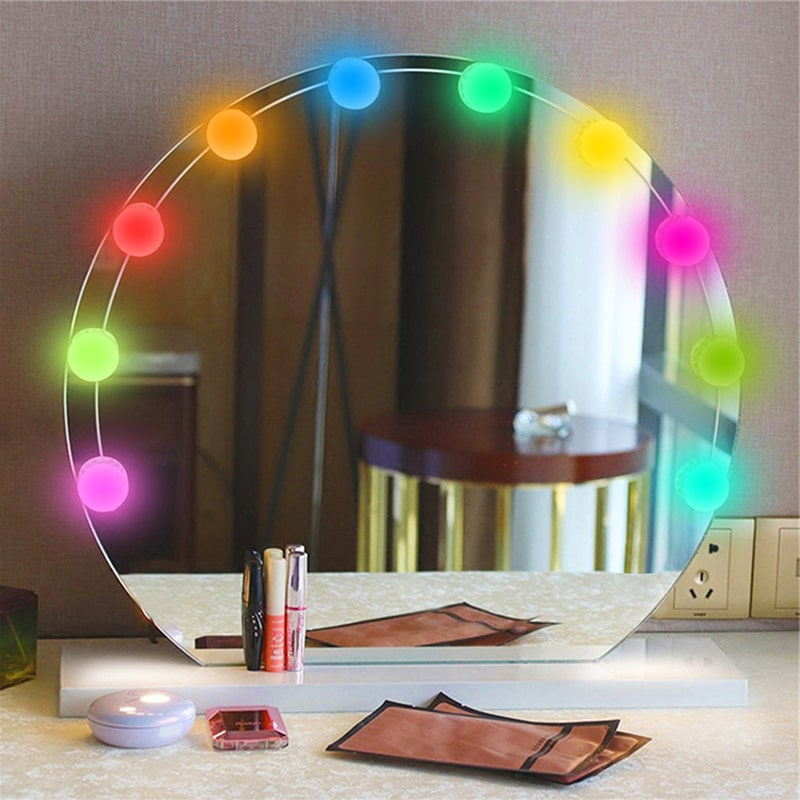 5W USB Charging Dimmable Globe Mirror String Lights