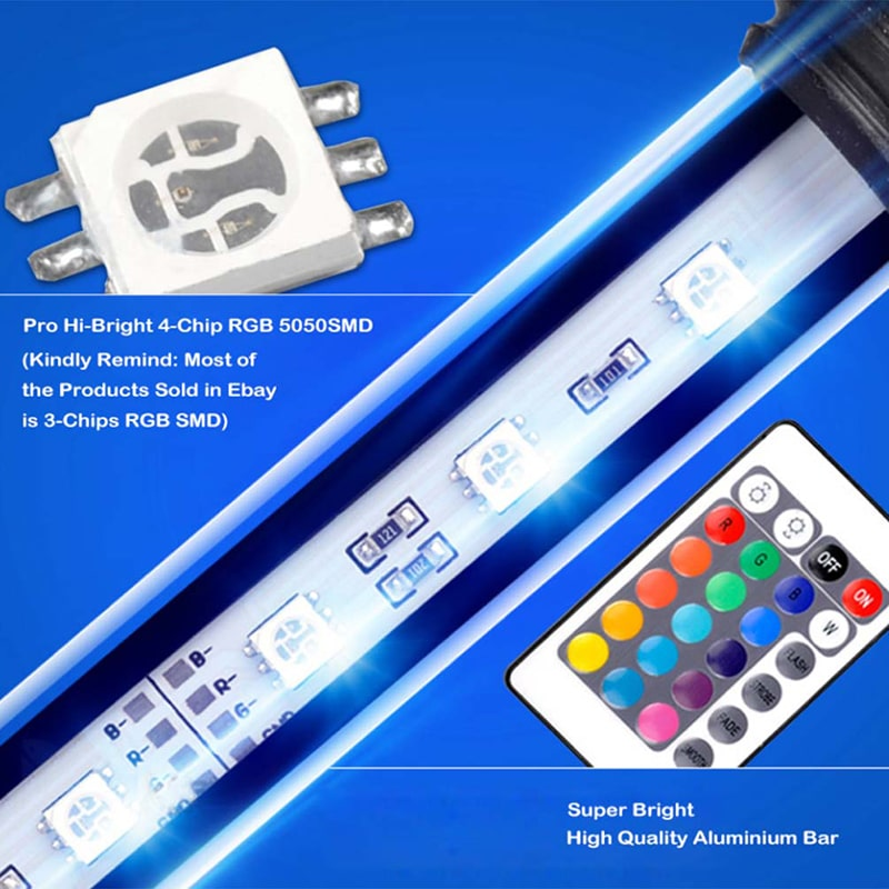 IP68 Waterproof Remote Control RGB Aquarium Lights