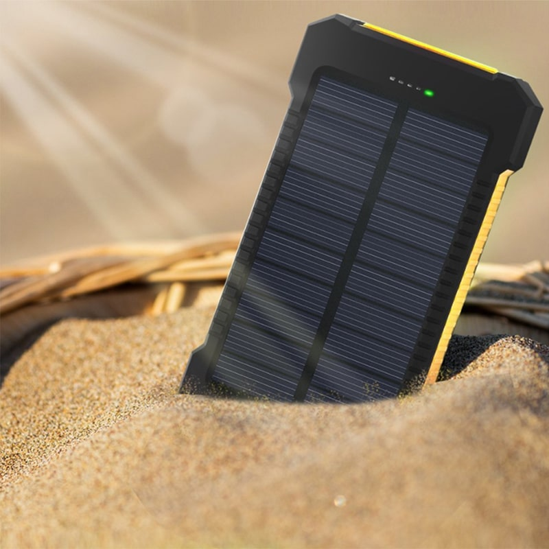 Portable Waterproof Solar Flashlights with Compass