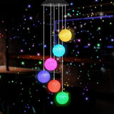 Garden Solar Hanging Ball Wind Chimes