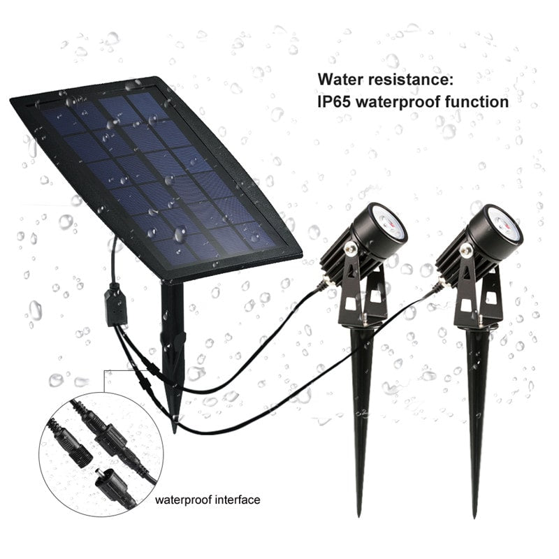 Waterproof Automatic On/Off Outdoor Solar Spotlights