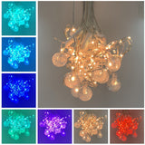 10 Modes Flexible Globe Bubble Curtain String Lights