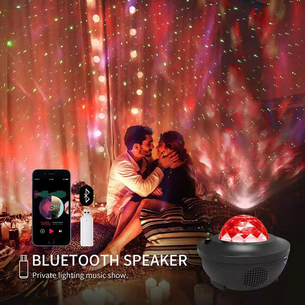 USB Voice Control Star Projector Night Light LED Starry Sky Projection Lamp