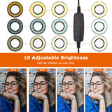 2-in-1 Selfie Ring Light for Makeup, Self-Portrait Shooting, Live Stream