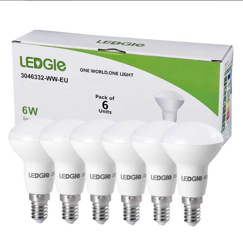 6 Pack E14 6W Warm White LED Lamp Bulbs