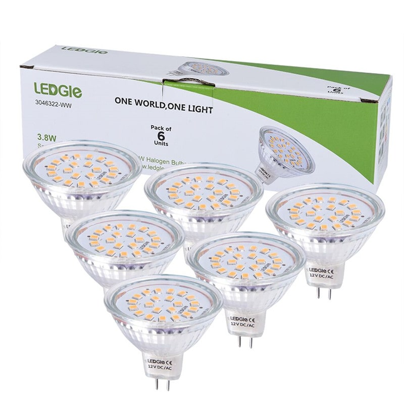 6 Pack 3.8W GU5.3 300lm Warm White Spotlight Bulbs
