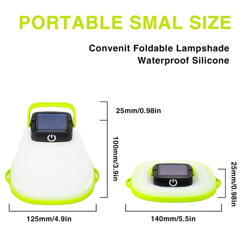 Bowl-shape Collapsible Solar Lantern Camping Lights