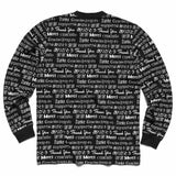 Chinatown Market Multi Language L/S Tee - Black