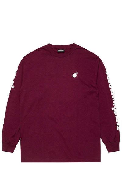 The Hundreds Forever Solid Crest L/S Tee (Burgundy)