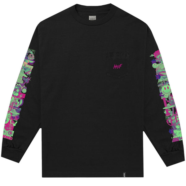 HUF Short Term LS Pocket Tee