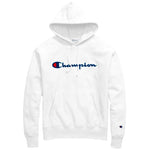 Champion Reverse Weave Chenille Logo Hoodie (White)