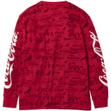 Staple Pigeon X Coca-Cola All Over Long Sleeve Tee (Red)