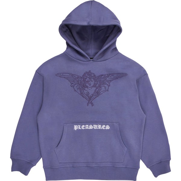 PLEASURES Angel hoodie (Purple)