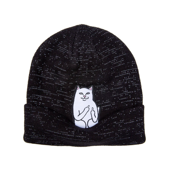 Lord Nermal Beanie (Black Reflective Yarn)